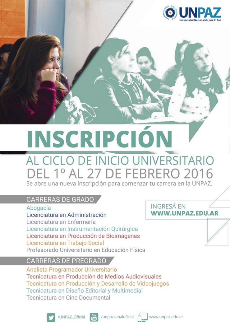 UNPAZ-InscripciónCarreras2016