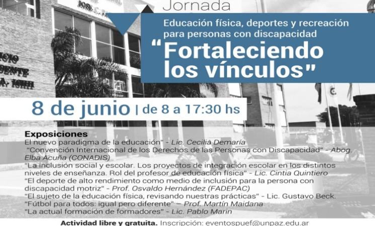JORNADA DE EDUCACIÓN FÍSICA, DEPORTES Y RECREACIÓN PARA PERSONAS CON DISCAPACIDAD