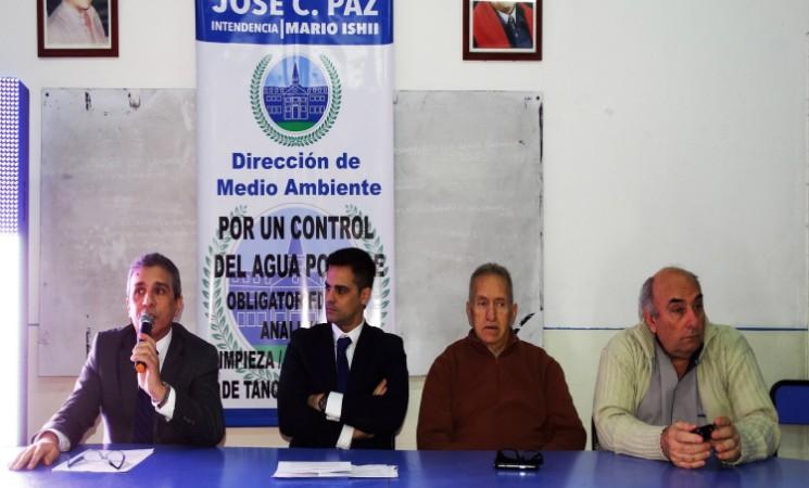 JORNADA EN JOSÉ C. PAZ SOBRE CONTROL  DE CONTAMINACIÓN HÍDRICA