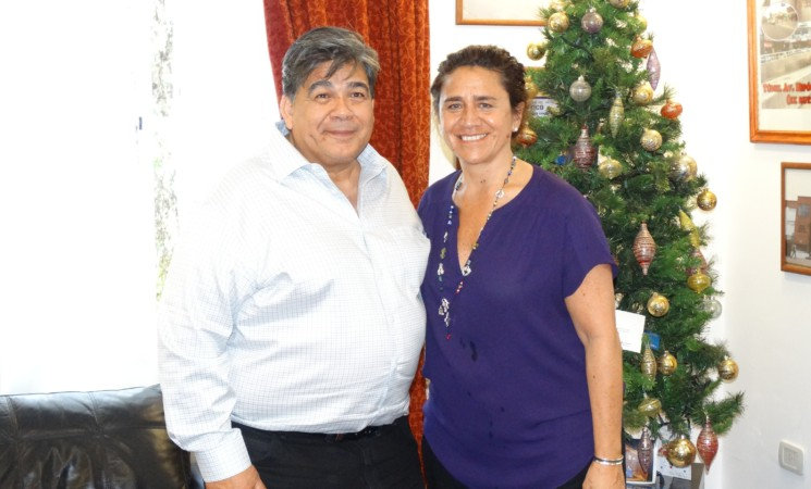 EL INTENDENTE ISHII Y LA MINISTRA ORTÍZ  ARTICULARON ESTRATEGIAS DE  GESTIÓN EN SALUD