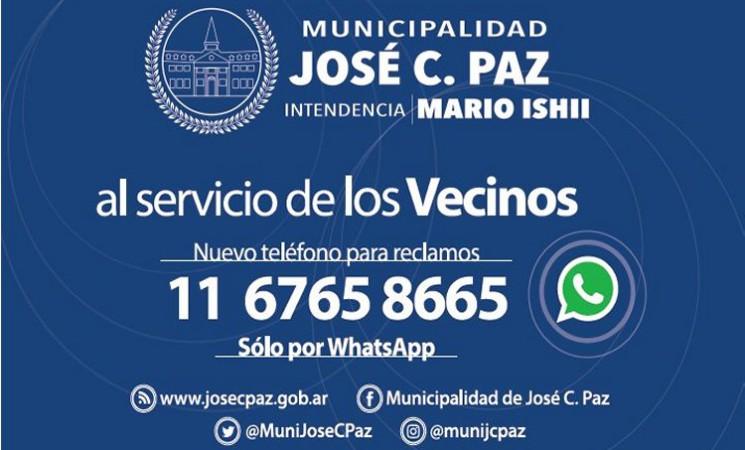 NUEVO TELÉFONO PARA ATENCIÓN DEL VECINO Y RECLAMOS