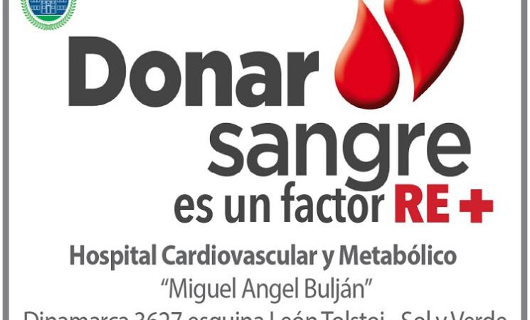 CAMPAÑA DONACIÓN DE SANGRE EN EL HOSPITAL CARDIOVASCULAR Y METABÓLICO DE JOSÉ C. PAZ