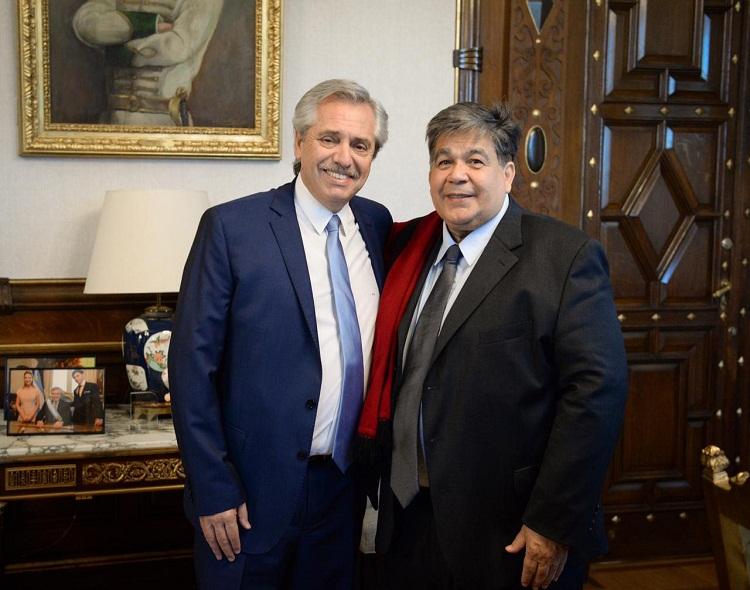 EN LA ROSADA ALMUERZO Y REUNIÓN DE TRABAJO ENTRE ALBERTO FERNÁNDEZ Y MARIO ISHII